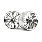 HPI 1/10 LP29 ATG RS8 Chrome Wheel with 12mm Hex (Pack of 2 Wheels) - 33462
