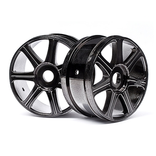 Hot Bodies Edge 1/8 Black Chrome 7 Spoke 17mm Hex Wheel (Pack of 2 Wheels) - 67768