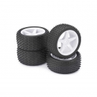 Absima 1/10 Buggy 5 Spoke Dirt 12mm Wheel and Tyre Front and Rear (Set of 4 Wheels) - ABS2500006