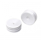 Team C 1/10 2.2inch White Front Rims with 12mm Hex for 2WD Buggy (Pack of 2 Wheels) - ABST02032
