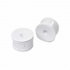 Team C 1/10 2.2inch White Rear Rims with 12mm Hex for 2WD Buggy (Pack of 2 Wheels) - ABST02033