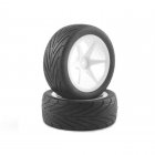 Fastrax 1/10th Buggy Pre-Glued Low Profile 12mm Hex Wheels and Tyres (Front) - FAST0048
