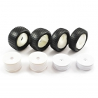 Fastrax 1/10 Buggy 4WD Unglued Wheel and Tyre Set 12mm Hex (Set of 4) - FAST381