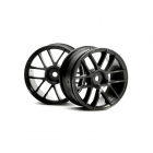 HPI 1/10 Scale 6 Spoke Split Black Wheel 26mm Wide (2 Wheels) - HP-3796