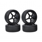 Kyosho 1/8 On Road Tyres Pre-Mounted on Inferno GT 5 Spoke Black Wheel (Set of 4 Wheels) - IGTH004BK