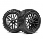 Maverick 1/10 Buggy 12mm Hex Wheel and Tyre Set (Pack of 2 Rear) - MV22769
