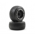 "Pro-Line Road Rage 2.2"" Tyre Mounted on Titus 2.2"" Black Wheel for E-Revo 1/16 (Set of 2 Wheels) - PL1102-13"