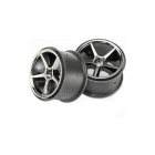 Traxxas 1/16 E-Revo Black Chrome Gemini Wheels (Set of 2) - TRX7172A