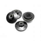 HPI Black Flanged Lock Nut M5x8mm (Set of 4) - Z680