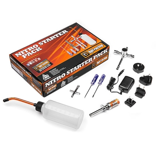 HPI Nitro Starter Pack Kit with Glow Plug Igniter, Charger, Fuel Bottle and Tools for all Nitro Cars - 110605