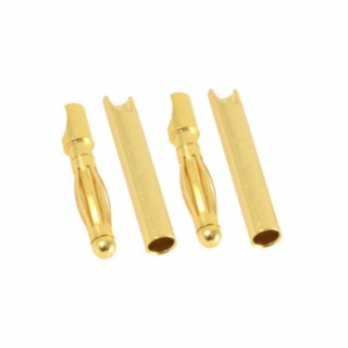Etronix 2mm Gold Bullet Connectors Male and Female (2 Pairs) - ET0609