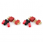 Logic RC Deans Battery Connector Sets with Heat Shrinks (2 Pairs - Male/Female) - FS-DNS/2