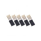 Logic RC Futaba Male Socket Set with Gold Pins (5 Pack) - FS-FUTM-05