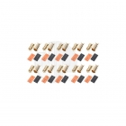Logic RC 6mm Gold Bullet Connectors with Heat Shrink (Pack of 10 Pairs) - FS-GC06-10