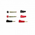 Logic RC 4mm Shielded Red and Black Gold Bullet Plug Connector (2 Pairs) - GC04SHIELD