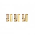 Castle Creations 5.5mm Gold Bullet Banana Connectors (3 Pairs) - GC05CC