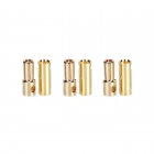 Castle Creations 6.5mm Gold Bullet Banana Connectors (3 Pairs) - GC06CC