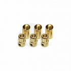 Castle Creations 8mm Gold Bullet Banana Connectors (3 Pairs) - GC08CC