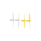 Hubsan Q4 Nano Mini Quad Copter Propellers Complete Set of Spare Blades (Yellow/White) - H111-05Y