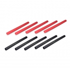 Overlander Heatshrink 6.4mm x 80mm Length (5 Red and 5 Black Heat Shrink) - OL-2180