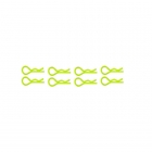 Trick Bits Fluorescent Green Body Clip (Pack of 8 Clips) - TB1040