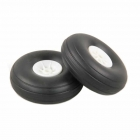 J Perkins 2.1/4-inch (56mm) RC Plane White Wheels (Pack of 2) - 5507112