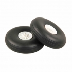 J Perkins 4-inch (100mm) RC Plane White Wheels (Pack of 2) - 5507117