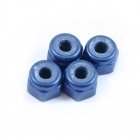 Fastrax M3 Blue Nyloc Nut (Pack of 4 Nuts) - FASTM3B