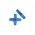 Fastrax Futaba Straight and Cross Type Servo Horns (Blue) - FAST13B